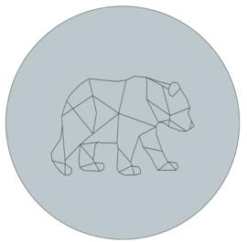 Labelr - Muurcirkel - Geometrische vorm beer - Zeeblauw