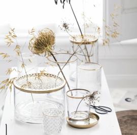 Vt wonen - Vase with metal lid - Gold