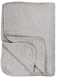 Ib Laursen - Quilt - wit met fijn donker grijs streepje