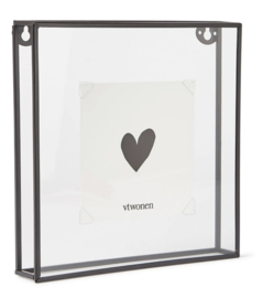 Vt wonen - Photo frame - metal black - 20 x 20 cm