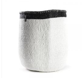Mifuko - Mand - streep zwart met wit - maat M