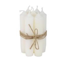 Ib Laursen - korte diner kaarsen - 7 stuks - wit