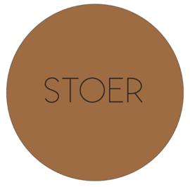 Labelr - Muurcirkel - Stoer - Hazelbruin