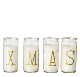 Affari of Sweden - decoratieve kaarsen in glas - XMAS - goud