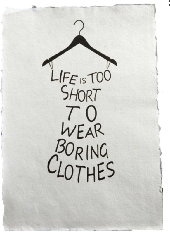 Poster A4 - Life is too short