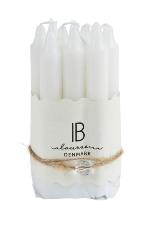Ib Laursen - kaarsen - bundel van 10 stuks - wit