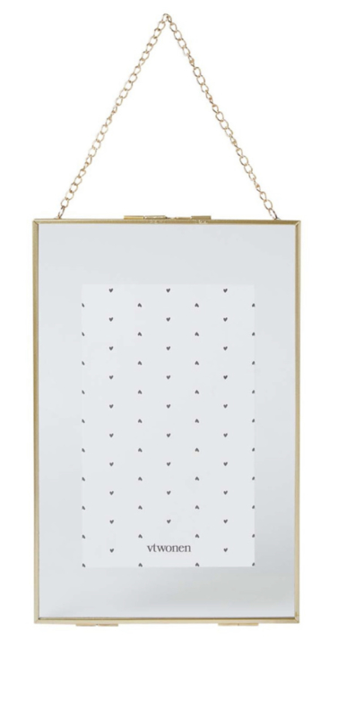 Vt wonen - Photo frame - Metal with lock - Gold
