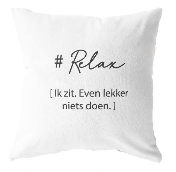 LabelR - Outdoor kussen - Relax - Wit