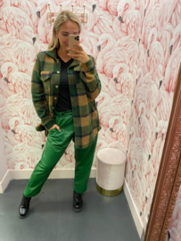 LEATHER PANTS GREEN