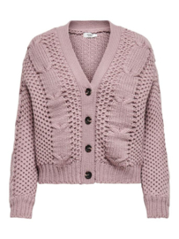 CARDIGAN CABLE KNITTED