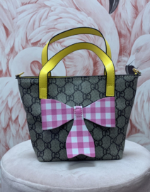 BAG COLOURED PINK BOW
