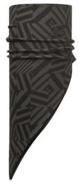 Polar Bandana BUFF® Op Grey Graphite / Black