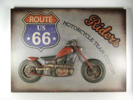 Wanddecoratie metaal Motor Riders