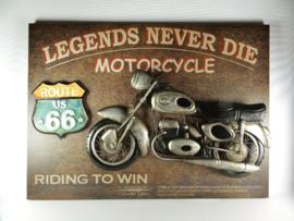 Wanddecoratie metaal Motor Legends