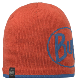 Knitted And Polar Hat BUFF® Logo Orange