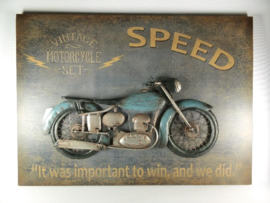 Wanddecoratie metaal Motor Speed