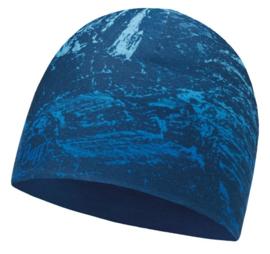 Microfiber Reversible Hat BUFF® Mountain Bits Blue - Blue