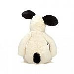 Jellycat bashfull black & cream puppy medium