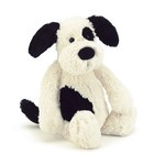 Jellycat bashfull black & cream puppy medium