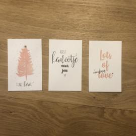 Mini kaartjes kerst