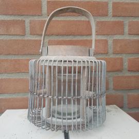 Metalen lantaarn 'Old look'