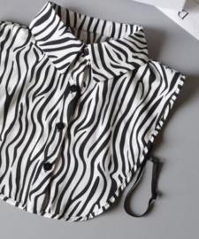 ANIMALS kraagje zebraprint puntkraag