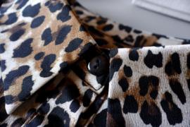 ANIMALS kraagje tijgerprint puntkraag