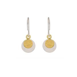 Muja Juma • oorbellen dubbel rondje | zilver (1382)