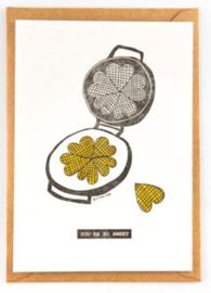 """Studio Flash • kaart """"heart waffles"""""""