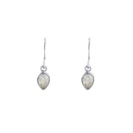Muja Juma • oorbellen hanger druppel groen prenite | zilver (1033)