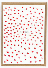 """Studio Flash • kaart """"i heart you"""""""