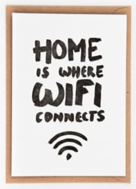 "Studio Flash • kaart ""home is where wifi connects"""
