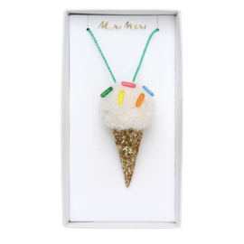 Meri Meri • necklace ice cream pompom