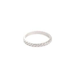 Muja Juma • ring maat 58 geribbelde | zilver (825)