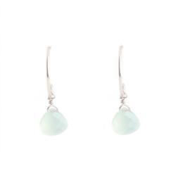 Muja Juma • oorbellen traan licht groen prenite | zilver (1013)