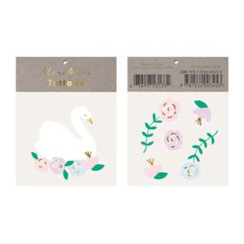 Meri Meri • tattoos floral swan