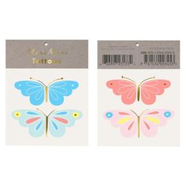 Meri Meri • tattoos neon butterfly