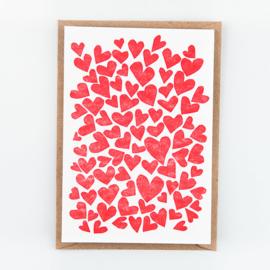 """Studio Flash • kaart """"hearts"""""""