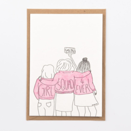 "Studio Flash • kaart ""girl squad"""