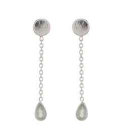 Muja Juma • oorbellen zwierende druppel amazone | zilver (1367)