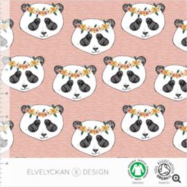 Stof • Elvelyckan Design • panda floral - dusty pink (jersey)