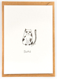 "Studio Flash • kaart ""swag cat"""
