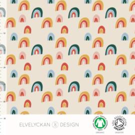 Stof • Elvelyckan Design • rainbow - creme (jersey)