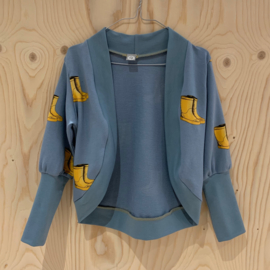 Uit eigen atelier • baggy vestje met laarsjes (2 t/m 4 jaar)