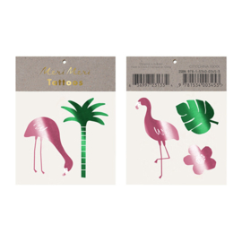 Meri Meri • tattoos tropical flamingo