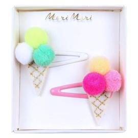 Meri Meri • hair clips  ice cream pompom