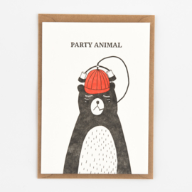 "Studio Flash • kaart ""party animal"""