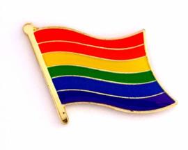 LGBTQ • pin rainbow flag