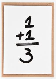"Studio Flash • kaart ""1+1=3"""