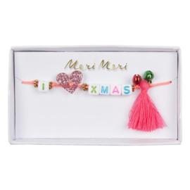 Meri Meri • armband 'I ❤︎ X-mas'